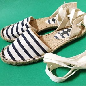 Forever 21 Shoes - Nautical Navy Striped Espadrilles